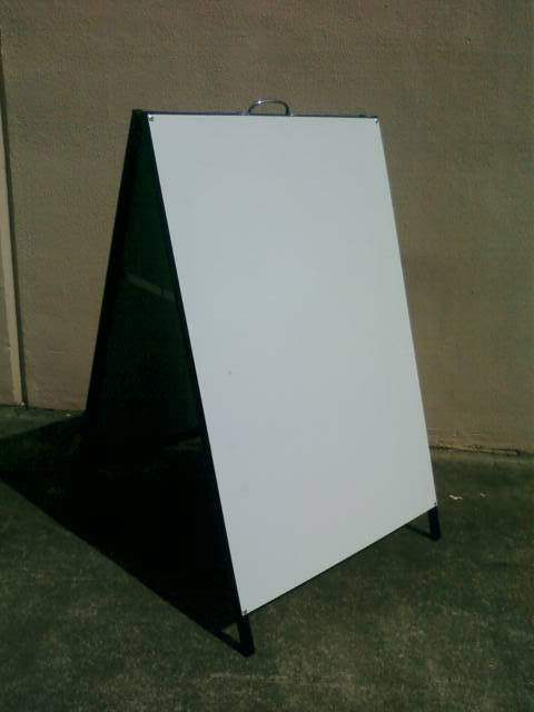 Picture of A-Frame 900mm x 1200mm signwhite panels