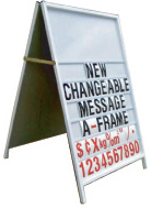 Picture of Changeable Message A-Frame 600x900