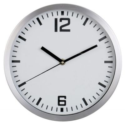 "Picture of 10"" Round Wall Clock - Aluminium case"
