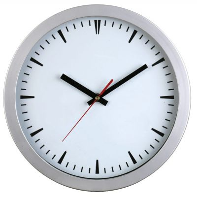 "Picture of 10"" Round Wall Clock - Resin case"