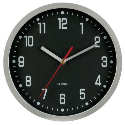 "Picture of 12"" Round Wall Clock - Aluminium case"
