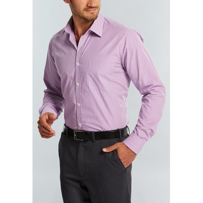 Picture of Mens Micro Gingham Wrinkle Free Business Shirt