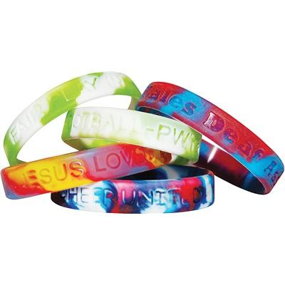 Picture of Multi-coloured Wristbands -debossed