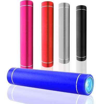 Picture of Cylindrical Power Bank With Light 2000 m