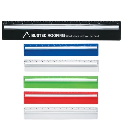 Picture of Plastic 12 inch Ruler With Magnifying Gl