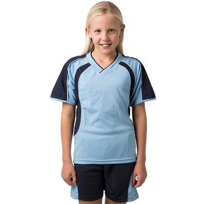 Picture of Kids 100% Polyester Cooldry Pique Knit V