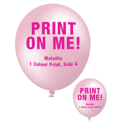 Picture of 30cm Metallic Balloon - Neck Down - Pink