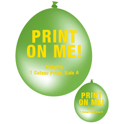 Picture of 30cm Metallic Balloon - Neck Up - Lime