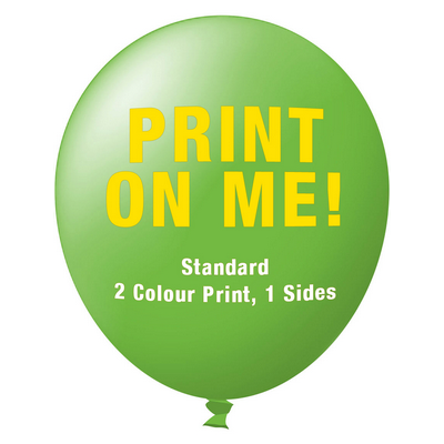 Picture of 30cm Standard Balloon - Neck Down - Lime