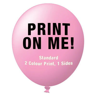 Picture of 30cm Standard Balloon - Neck Down - Pink