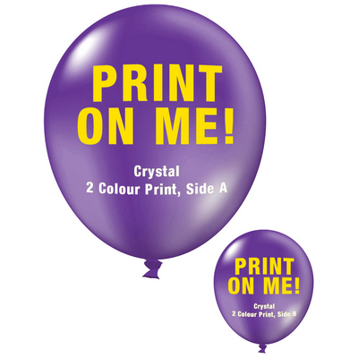 Picture of 30cm Crystal Balloon - Neck Down - VioletBalloons