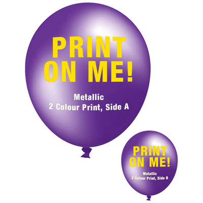 Picture of 30cm Metallic Balloon - Neck Down - Purp