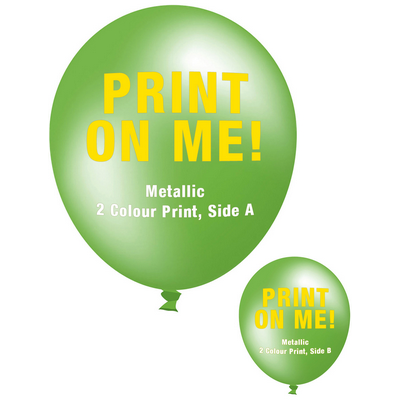 Picture of 30cm Metallic Balloon - Neck Down - Lime