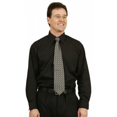 Picture of Mens Poplin Long Sleeve Business Shirt
