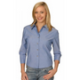 Ladies Wrinkle Free 3/4 Sleeve Chambray