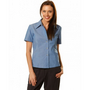 Ladies Wrinkle Free Short Sleeve Chambra