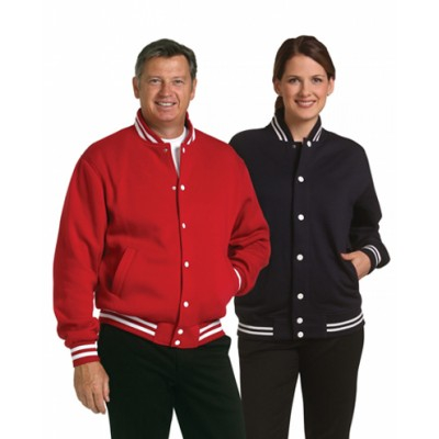 Picture of Unisex Fleece Varsity Jacket