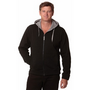 Mens Full Zip Contrast Bonded Fleece Hoo
