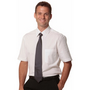 Mens Cotton/Poly Stretch Short Sleeve Sh