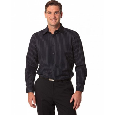 Picture of Mens Pin Stripe Long Sleeve Shirt