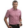 Mens Gingham Check Short Sleeve Shirt
