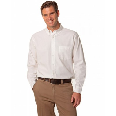 Picture of Mens Washed Oxford Long Sleeve Shirt