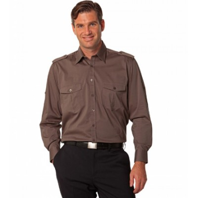 Picture of Mens Long Sleeve Military Shirt
