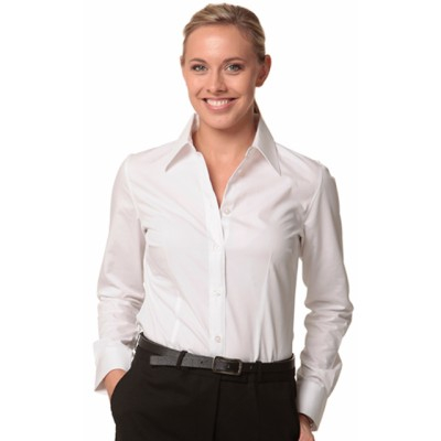 Picture of Ladies Cotton/Poly Stretch Long Sleeve S