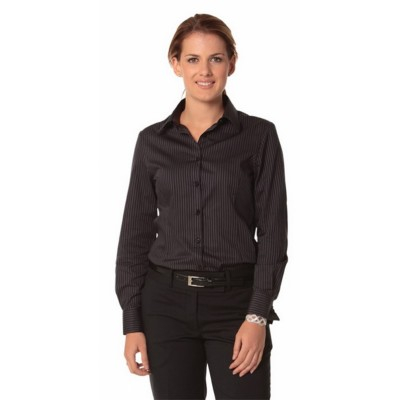 Picture of Ladies Dobby Stripe Long Sleeve Shirt