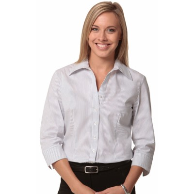 Picture of Ladies Ticking Stripe 3/4 Sleeve Shirt