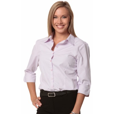 Picture of Ladies Mini Check 3/4 Sleeve Shirt