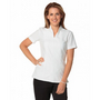 Ladies Full Zip Front Short Sleeve Tunic