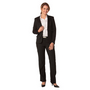 Ladies Poly/Viscose Stretch One Button C
