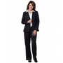 Ladies Poly/Viscose Stretch Two Buttons