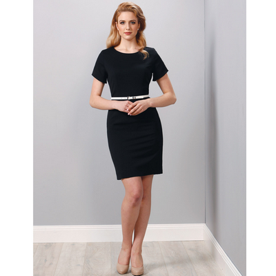 Picture of Ladies Poly/Viscose Stretch, Short Sleev