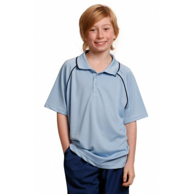 Picture of Kids CoolDry Raglan Short Sleeve Contras