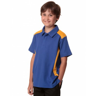 Picture of Kids TrueDry Contrast Short Sleeve Polo