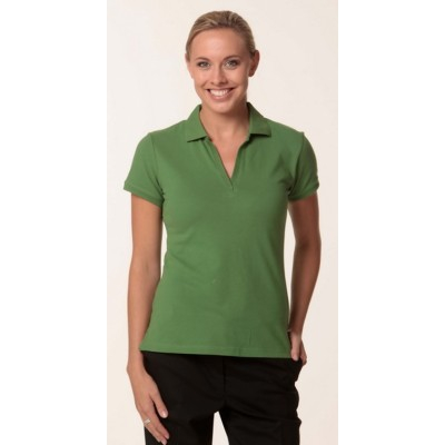 Picture of Ladies Cotton Pique Knit Short Sleeve Po