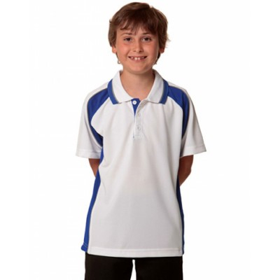 Picture of Kids CoolDry Mini Waffle Short Sleeve Po