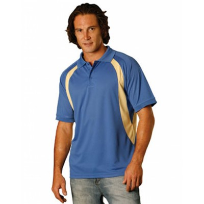 Picture of Mens CoolDry Mesh Contrast Short Sleeve