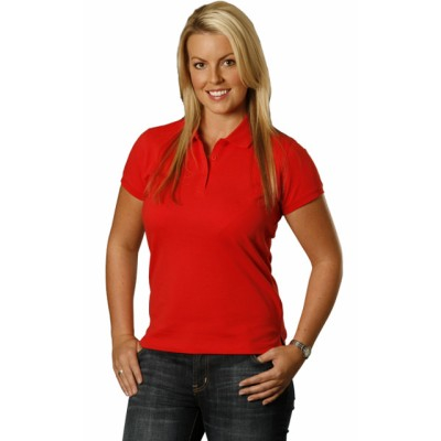 Picture of Ladies Cotton Stretch Short Sleeve Polo