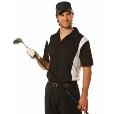 Picture of Mens CoolDry Ottoman Short Sleeve Golf P
