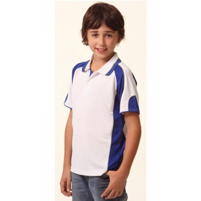 Picture of Kids CoolDry Contrast Short Sleeve Polo