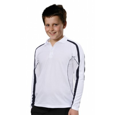 Picture of Kids TrueDry Fashion Long sleeve Polo