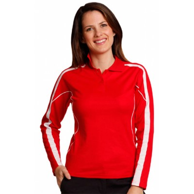 Picture of Ladies TrueDry Fashion Long sleeve Polo
