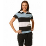 Ladies Short Sleeve 3 Tone Rugby Top