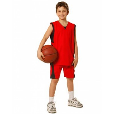 Picture of Kids CoolDry Basketball Contrast Colour