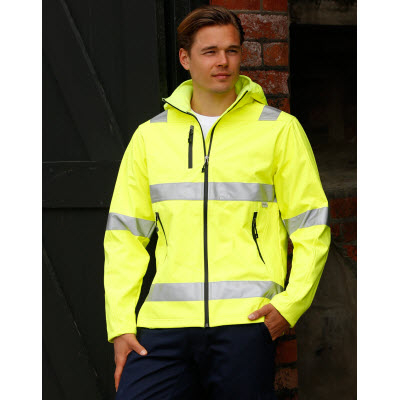 Picture of Adults HiVis Heavy Duty Softshell Jacket