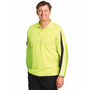 Mens TrueDry Hi-Vis Long Sleeve Polo wit
