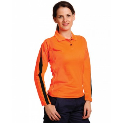 Picture of Ladies TrueDry Hi-Vis Long Sleeve Polo w